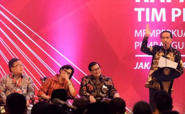 Presiden Jokowi memberi arahan pada Rakornas VII TPID Tahun 2016, di Hotel Grand Sahid Jaya, Jakarta, Kamis (4/8)/Foto: Humas Setkab/Jay