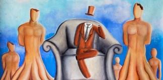 "Ilustrasi Adaptasi dari Lukisan ""Negara tanpa Kepala Negara"" karya Bismar Siagian/Istimewa"
