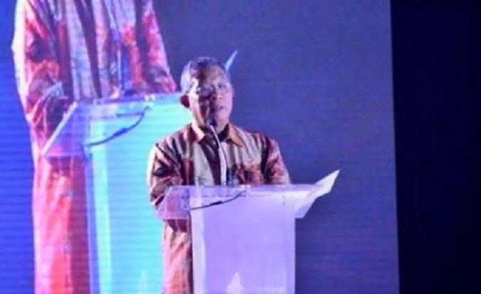 Darmin Nasution saat sambutan di Indonesia Broadcasting Expo (IBX) 2016, Jakarta, Jumat (21/10)/Foto: Dok. ekon.go.id
