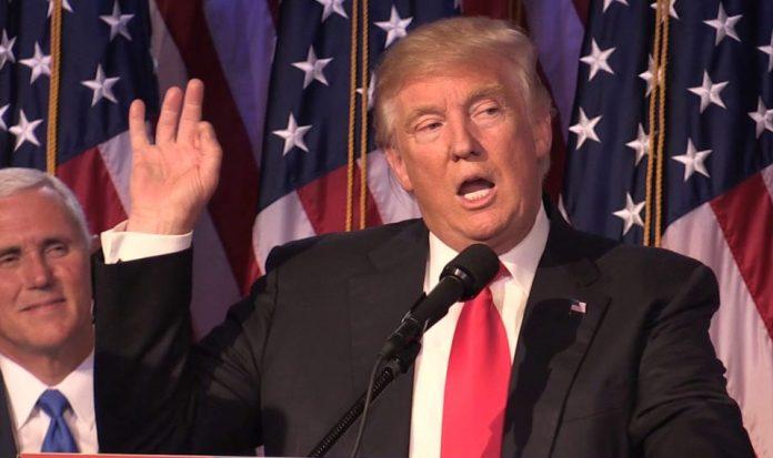 Donald Trump saat pers conference. Foto via Thesun