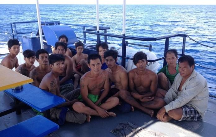 Para awak Lima Kapal Ikan Asing Ilegal yang Ditangkap Kapal Pengawas Perikanan KKP/Foto: dok. Humas KPP