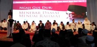 Alissa Wahid sedang memberikan sambutan acara haul KH. Abdurrahman Wahid (Gus Dur). Foto dok. gusdurians