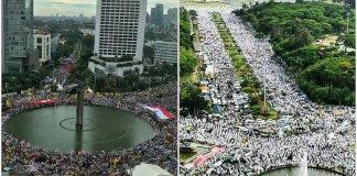 Foto Ilustrasi Parade 412 vs Aksi Damai 212/IST