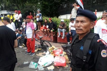 Sampah Berserakan pada Aksi Kita Indonesia/Foto Nana (Istimewa)