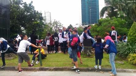 Massa Aksi Kita Indonesai Injak-injak Tanaman/Foto Nana