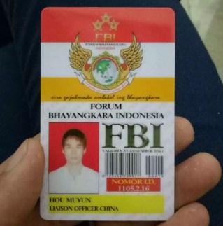 ID Card Liason Officer China, Hou Muyun/Foto Istimewa