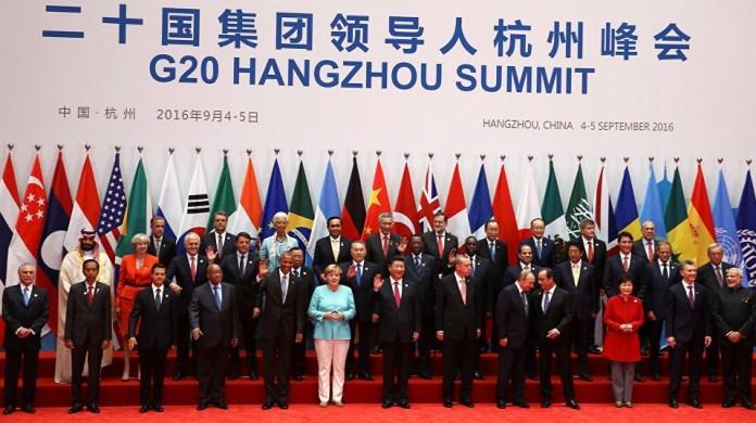 KTT G20 yang diselenggarakan Cina di Hangzhou 4-5 September. Foto via sputnik