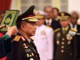Komisaris Jenderal (Komjen) Tito Karnavian Saat Diambil sumpah jabatan. Foto Dok. Humas Polri