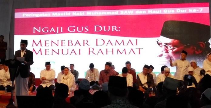 Presiden Jokowi saat sambutan Haul Gus Dur ke-7. Foto Dok. gusdurian