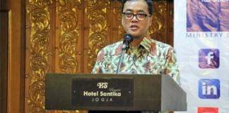 Sekretaris Direktorat Jenderal Pengembangan Ekspor Nasional Ari Satria membuka acara Sosialisasi Program Pengembangan Ekspor Ditjen PEN/Foto: DOk. Humas Kemendag