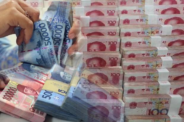 wacana perpindahan acuan kurs mata uang rupiah ke yuan. Foto ilustrasi via sindo