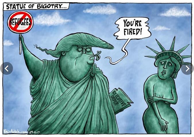 29-january-2017-statue-of-bigotry/kartun: Dok. Independent