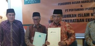 Nota Kesepahaman antara Pertamina dan PBNU. Foto Fadilah/Nusantaranews