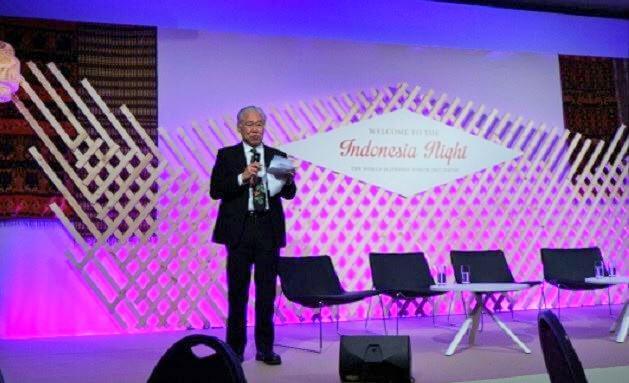 Menteri Perdagangan Enggartiasto Lukita saat acara Indonesia Night di Forum Ekonomi Dunia (WEF 2017), Davos, Swiss/Foto: Dok. Humas Kemendag