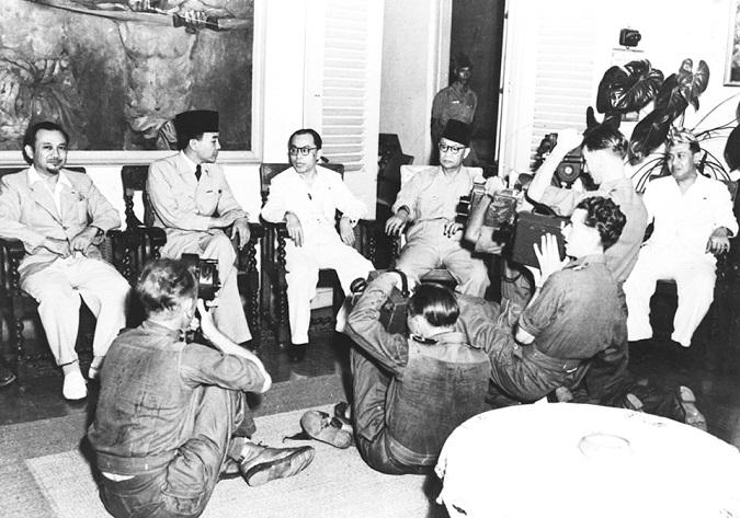 Sukarno saat jumpa pers/Foto: Dok. gahetna.nl