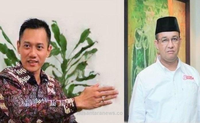 Agus Harimurti Yudhoyono dan ANies Baswedan/Foto Ilustrasi: NUSANTARAnews