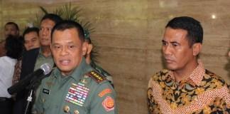 Panglima TNI Gatot Nurmantyo dan Menteri partanian Amran Sulaiman/Foto Andika/Nusantaranews