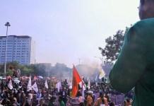 Ilustrasi Demonstrasi Mahasiswa/Foto Ahmad Hatiem / NUSANTARAnews