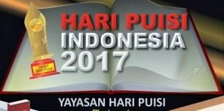Poster Hari Puisi Indonesia 2017/Ilustrasi Istimewa