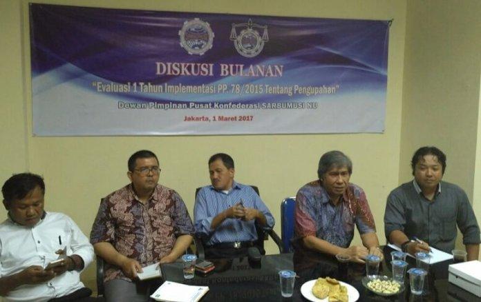 Diskusi Bulanan Evaluasi PP 78/2015 Tentang Pengupahan/Foto Ucok/Nusantaranews