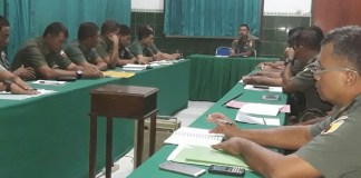 Jam Komandan Dandim 0819/Pasuruan Selasa (7/3/2017). Foto Penerangan Baladhikajaya
