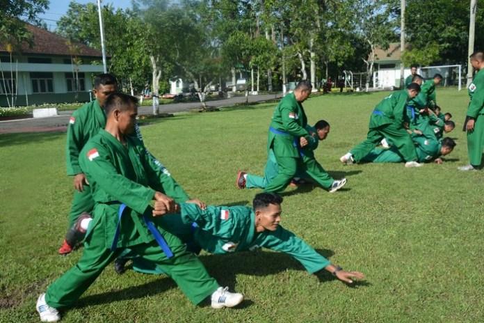 Prajurit Wijayakusuma latihan Yong Moodo/Foto A. Dydy Prabowo