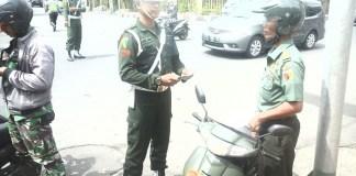 """Sub Denpom V/3-2 Jember Laksanakan Gaktib """"Waspada Wira Clurit"""" Gabungan Bersama Polri dan Provost Satuan TNI Se Kab Jember/Foto Sis24"""