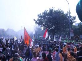 Demonstrasi/ Foto Ahmad Hatim/ NUSANTARAnews