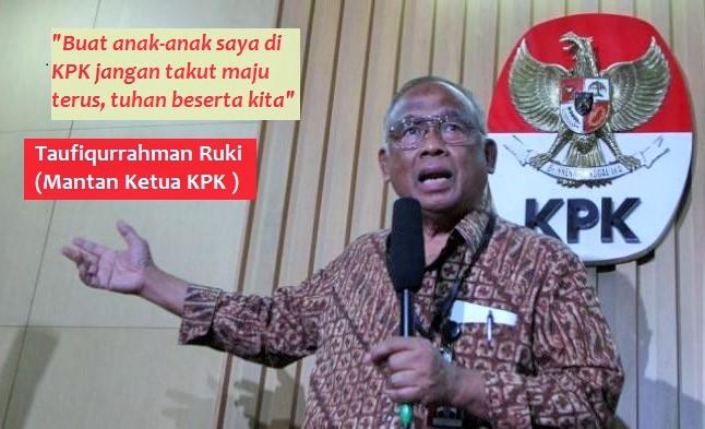 (Ilustrasi) Mantan Ketua KPK (Komisi Pemberantasan Korupsi), Taufiqurrahman Ruki. Ilustrasi Foto: NUSANTARAnews