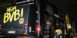 Borussia Dortmunt usai diserang teroris. Foto Getty/ Independent