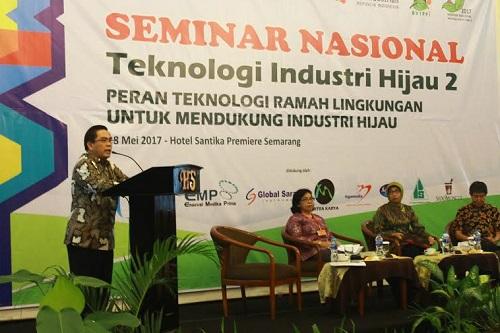 Kepala BPPI Kemenperin, Haris Munandar saat sambutan di Semarang, Jawa Tengah, Kamis (18/5/2017). Foto: Dok. Kemenperin