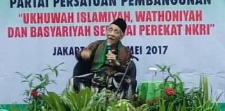 Ketua Majelis Syariah Partai Persatuan Pembangunan (PPP), KH Maimoen Zubair (Mbah Moen)/Foto Richard Andika/Nusantaranews