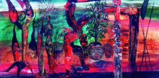 Nasirun - 1993-2006 - Tamann Yawidat (50x90) Oil Paint on Canvas. Foto: archive.ivaa-online.org
