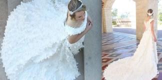 Baju Pengantin Kertas Toilet. Ilustrasi: NUSANTARANEWS.CO (Foto: mnn.co - today.com)