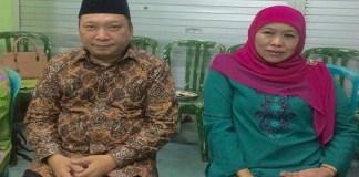 Fandi Utomo dan Khofifah Indar Parawansa. (Foto: Nusantaranews/Tri Wahyudi)