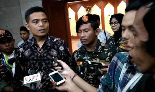 Komandan Densus 99 Banser Nuruzzaman usai Seminar Kebangsaan: