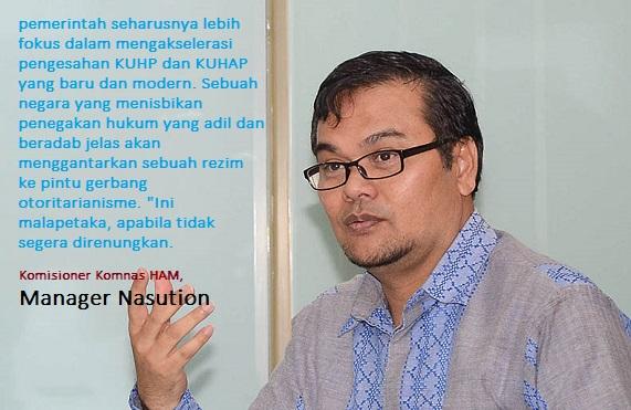 Komisioner Komisi Nasional Hak Asasi Manusia (Komnas HAM) Manager Nasution. Foto via Republika.com