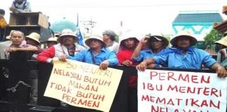 Menteri Susi didemo para nelayan, Permen KKP Minta dicabut. Foto: Dok. Tribunnews