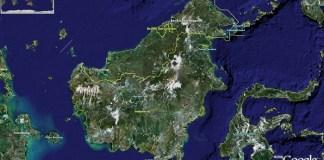 Peta Kalimantan/Ilustrasi/Istimewa/Nusantaranews