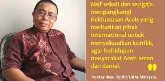 Doktor Ilmu Politik UKM Malaysia, Dr. Taufik A Rahim, Phd. Foto Najmi (Ilustrasi: NUSANTARANEWS.CO)
