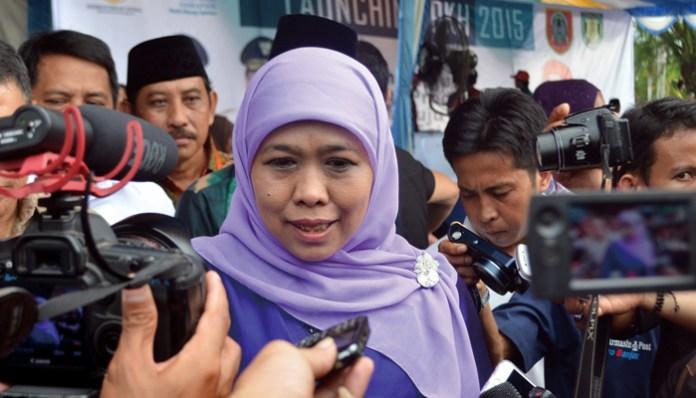 Khofifah Indar Parawansa. (Foto via Poskota)/Nusantaranews