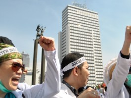 Aksi Mogok Dokter/Ilustrasi/Istimewa/Nusantaranews