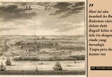 Banda, Atjeh Tempo Dulu. Foto: Lukisan Kota Banda Aceh pada masa Kesultanan Aceh dari arah laut oleh François Valentijn (1724-1726)/WIkipedia. Ilustrasi: NusantaraNews.co