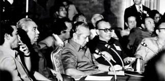residen Soeharto dalam acara ASEAN Summit Meeting di Pertamina Cottage pada tanggal 24 Februari 1976. Foto: http://soeharto.co