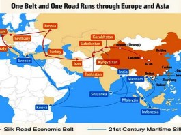 Jalur Sutera Abad-21 Cina (One Belt, One Road Initiative). (Foto: Istimewa)