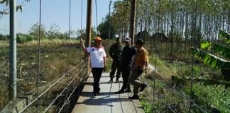 Kasdim 0805 Ngawi Tinjau Lokasi TMMD di Kecamatan Karanganyar. Foto Dim0805/NGW