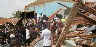 Puing-puing bangunan akibat serangan bom bunuh diri kelompok militan Boko Haram. (Foto: AFP)