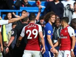 David Luiz diganjar kartu merah/Foto via TimelineBPL/Nusantaranews