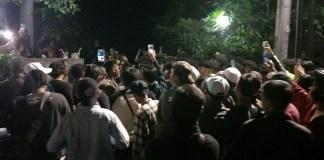 Demo Menolak Komunis di Gedung LBHI/Foto Istimewa/Nusantaranews