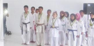 tim atlet dojo karate Kodim 1415 Kepulauan Selayar/Foto Fadly S/Nusantaranews